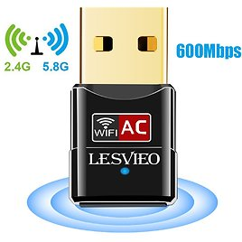 LESVIEO 600Mbps Wireless Network Adapter Wifi Dongle