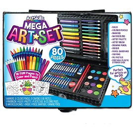 ArtSkills Complete Art Kit for Kids and Teens, Paints, Markers, Pens, Colored Pencils and More, 80Pc