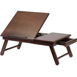 Winsome Wood Alden Lap Desk with Flip Top and Drawer