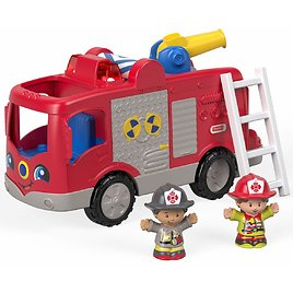 Fisher-Price Little People Helping Others Fire Truck with Sounds, Songs & Phrases