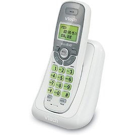 VTech Cordless Phone with Caller ID/Call Waiting, White/Grey with 1 Handset