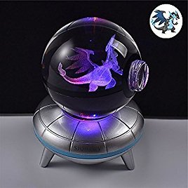 3D Crystal Ball Base Changes Color Toy Night Light Lamp (20inch)
