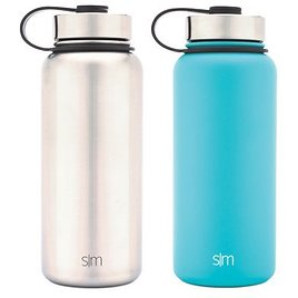 2-Pack Insulated Stainless Steel Water Bottles