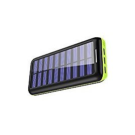 Solar Charger RAVPower 15000mAh Outdoor Portable Charger Solar Power Bank Dual USB External Battery Pack Power Pack with Flashlight (IPX4 Splashproof, Dustproof, Solar Panel Charging, DC5V/2A Input): Camera & Photo