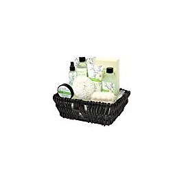 Bath Spa Set Gift Basket for Women, Pack of 10 Bath Sets with Lilies Scented