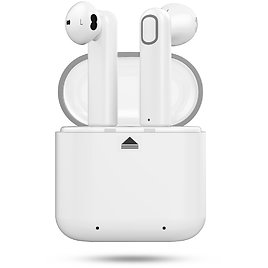 Bluetooth Earbuds RyuGo V4.2 Bluetooth Headphones True Wireless Earbuds Earphones Noise Cancelling Sweatproof Air Headset with Microphone and Charging Case for IPhone Samsung Smartphones (White)