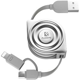 FLOVEME 2 in 1 Extension 3.3ft Flexible Micro USB Charger At $11.70 + Free Shipping @Amazon
