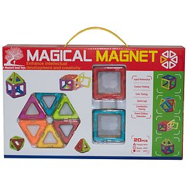 A Mustard Seed Toys Magnetic Tiles, 20 Piece