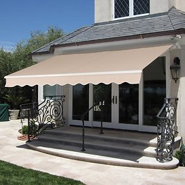 Price Drop! Retractable Patio Awning (Ships Free)