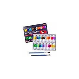 Acrylic Paint Set, Shuttle Art 30 x12ml Tubes Artist Quality Non Toxic Rich Pigments Colors Great for Kids Adults Professional P