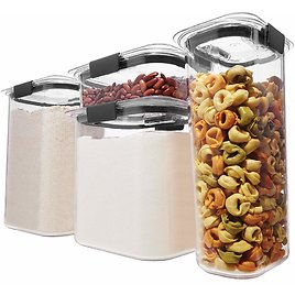 Rubbermaid Brilliance Pantry Organization & Food Storage Containers Set of 4
