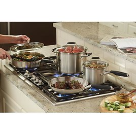 12-Piece Stainless Steel Cookware Set + Ships Free