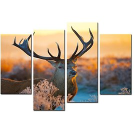 2018 Elk Painting Animal Canvas Paintings Wall Art Deer Picture Print On Canvas For Modern Home Decoration From Meiledipainting, $32.95 | DHgate.Com