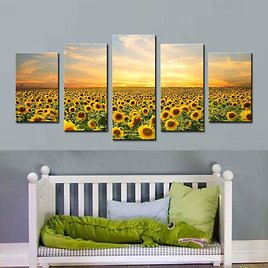 2018 Sunflower Canvas Paintings Flower Painting Landscape Picture Print On Canvas Wall Art Paintings For Home Hotel Decor Unframed Gifts From Meiledipainting, $23.05 | DHgate.Com