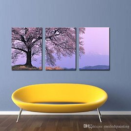 Best Modern Abstract Wall Art Painting On Canvas New Style NO Frame With The Cherry Tree Landscape Wall Decor Art Canvas Picture Decor Under $26.44 | DHgate.Com