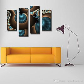 4 Picture Combination Abstract Blue Brown Like Several Holes Wall Art Painting The Picture Print On Canvas For Home Wall Decor From China Paintings Seller Meiledipainting | DHgate.Com