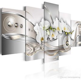 2018 Amosi Art Butterfly Orchid Flower 5 Panels Modern Abstract Crystal Ribbon Painting Canvas Wall Art Print Decorative HD Picture Frame Artwork From Meiledipainting, $42.5 | DHgate.Com