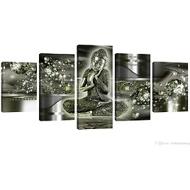 2018 Framed Home Decoration Wall Art Paintings Buddha Printed On Canvas Light Green The Buddha Pictures Ready To Hang From Meiledipainting, $42.5 | DHgate.Com