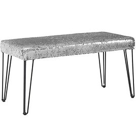 Mainstays Reversible Color Changing Sequin Bench (Multiple Colors)