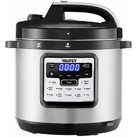 Yaufey 6.3 Qt 12-in-1 Programmable Pressure Cooker At $64.99 @Amazon