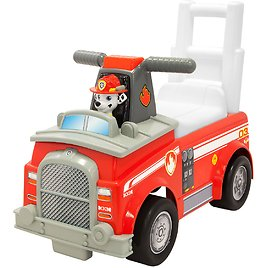 Paw Patrol Marshal Fire Truck Ride on,Theme Song and Sound Effects Buttons on Handles, Under Seat Storage,Ages 1 to 3 Years