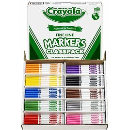 200-Count Crayola Fine Line Markers (Ships Free)