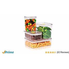 4 Pieces Air-Tight Food Containers Set BPA Free