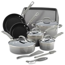 Rachael Ray 14-Pc. Nonstick Cookware Set (3 Colors)