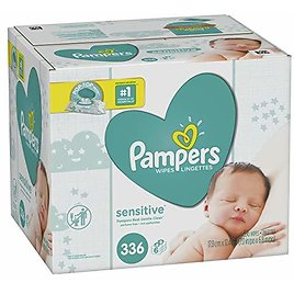336-Ct Pampers Sensitive Water Baby Diaper Wipes