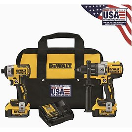 DEWALT XR 2-Tool 20-Volt Max Brushless Power Tool Combo Kit with Soft Case (Charger Included and 2-Batteries Included) At Lowes.com