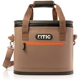 RTIC Insulated Soft Cooler Bag, Leak Proof Zipper, Keeps Ice Cold for Days (2 Colors)