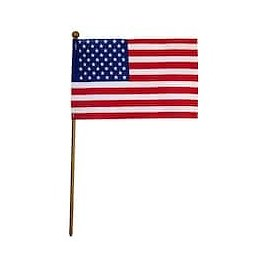 """79¢ Only Valley Forge® United States Stick Flag, 4"""" X 6"""""""