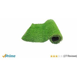Kaizein Outdoor Turf Rug, Fake Grass Mat with Drainage Holes/70 Oz/Yard 4-Tone 6.5 X 10 Ft 1.38-inch Blade Height, Artificial Grass Mat, Fake Turf for Deco Indoor/Outdoor Landscape