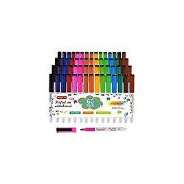 35%OFF: Dry Erase Markers,60 Pack Shuttle Art 15 Colors Magnetic Whiteboard Markers with Erase,Fine Point Dry Erase Markers Perf