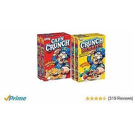 Cap'N Crunch Cereal, Variety Pack, 4 Count