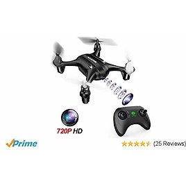 DROCON Falcon Mini Drone for Kids with 720P HD Camera, RC Pocket Drone Best Gift for Beginners with One Key Return, Altitude Hold Mode, Supports 8GB TF Card