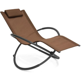 (Ships Free) Outdoor Folding Zero Gravity Orbital Seat Chair w/ Removable Pillow - More Colors