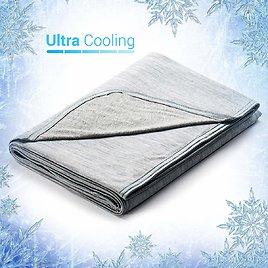 Revolutionary Cooling Blanket Absorbs Body Heat to Keep Adults, Children, Babies Cool On Warm Nights $35.69+Free Shipping