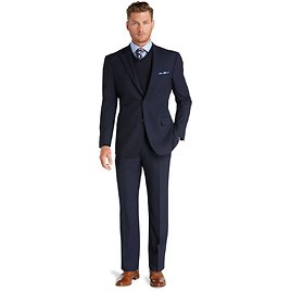 Executive Collection Traditional Fit Suit #3FRH, Navy
