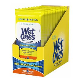 Wet Ones Citrus Antibacterial Hand Wipes, 20 Count (Pack Of 10) - Subscribe & Save