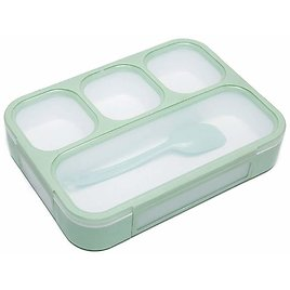 Bento Lunch Box for Kids Adults, 4 Compartment Lunch Boxes with Leak-proof Lids, BPA-Free Plastic Food Storage Containers