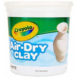Crayola Air-Dry Clay, White, 5 Pound Resealable Bucket
