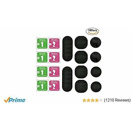 Cable Clips, ONME Cable Holder Multipurpose Cord Management for Home Non-Toxic Rubber Material Self-Adhesive Desk Cord Clips Durable Cord Organizer Black Cord Holder for Office (Black 10pcs)