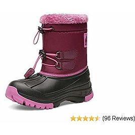 Kids Snow Boots Boys & Girls Winter Boots Waterproof Cold Weather Outdoor Boots (Toddler/Little Kid/Big Kid)