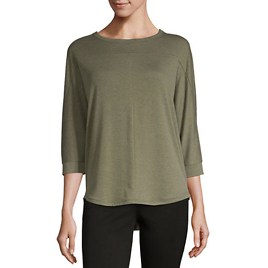 A.n.a Womens Crew Neck 3/4 Sleeve T-Shirt (4 Colors)