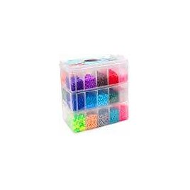 Fuse Beads, 25, 000 Pcs Fuse Beads Kit 26 Colors 5MM, Including 127 Patterns, 4 Big Square Pegboards, 1 Heart Pegboards, 1 Flower Pegboards, Ironing Paper, Tweezers, Perler Beads Compatible By INSCRAFT