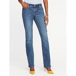 Mid-Rise Original Boot-Cut Jeans for Women   Old Navy