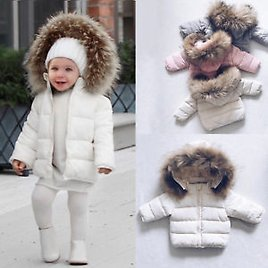DIGOOD Girls Boys Classic Hooded Jacket Coat,For 1-6 Years old Kids Winter Warm Outwear Thick Parka Tops