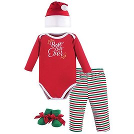 ENDS  IN 4 DAYS Ready to Buy Your Baby's 1st Christmas 'Best Gift Ever' Bodysuit Set - Newborn