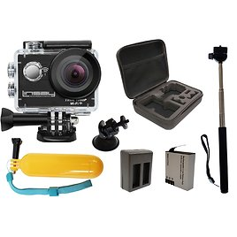 Navitech 60-in-1 Action Camera Accessories Combo Kit with EVA Case Compatible with The Campark X15 4K Action Camera